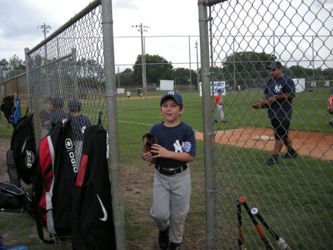 Cody at last 2009 baseball game!